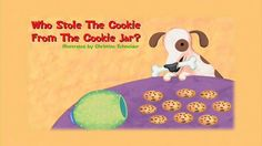 Who Stole The Cookie From The Cookie Jar Lyrics Amusing Cookie Jar Song For Preschoolers Who Took The Cookie From  Who