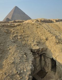 : A wall painting depicting scenes of ancient Egyptian life has been discovered in a tomb near the Great Pyramid of Giza, archaeologists report.