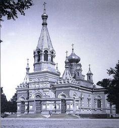 Cerkiew prawosławna na Placu Floriańskim - ok. 1910 roku. Kliknij aby obejrzeć w pełnym rozmiarze