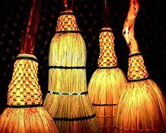 handmade brooms by Mark Hendry