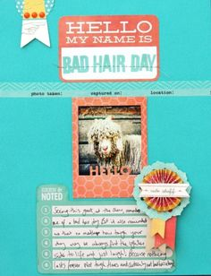 Bad Hair Day by. @Sharmaine Kruijver created with December 2012 #CocoaDaisyKits Hello, My Name is..