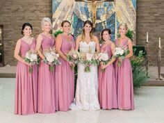 Wedding photos shared by Jen and Jake! Their review: Just wanted to share how happy I was with the bridesmaids dresses from your company for our August 2016 Wedding. The ordering process was simple and considering they were made to order, they were shipped in a very timely fashion. They were so well made and the color was simply stunning on my bridesmaids. We went with the dusty rose as they color was so unique and just beautiful. We also got the matching ties for the groomsmen as well as…