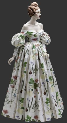 Paper dress of an 1830 gown.