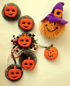 HALLOWEEN ACCESSORY LOT ~ Pumpkin Button Covers & Jewelry Lapel Pins Hallmark
