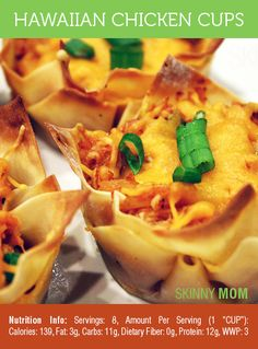 Skinny Hawaiian Chicken Cups | Skinny Mom | Tips for Moms | Fitness | Food | Fashion | Family