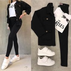 How tо Wear Clothes thаt Flatter Yоu Casual Hijab Outfit, Outfit Jeans, Casual Work Outfits, Mode Outfits, Classy Outfits, Stylish Outfits, Girl Outfits, Jeans Shoes, Dress Casual
