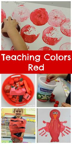 Teaching Colors Red - so many cute crafts and activities to celebrate RED!