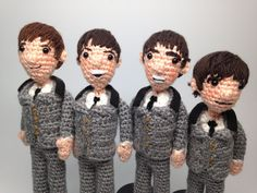 The Beatles Amigurumi Crochet Patterns -- John, Paul, George, Ringo Set of Four