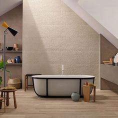 Buy online Stone_art By marazzi, indoor single-fired ceramic wall tiles Ceramic Tile Bathrooms, Ceramic Wall Tiles, Tile Art, Porcelain Tiles, Hall In Tirol, Interior Design Examples, Italian Bathroom, Art Pierre, Background Tile