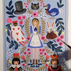Alice in Wonderland #illustration | Anna Rifle Bond / Rifle Paper Co. …