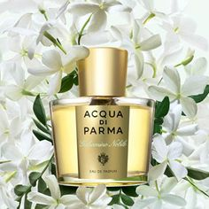 love Jasmine-based scents like this one from Acqua di Parma. They remind me of summer in the Mediterranean.I love Jasmine-based scents like this one from Acqua di Parma. They remind me of summer in the Mediterranean. Perfume Scents, Perfume And Cologne, Perfume Bottles, Glass Bottles, Parma, Red Makeup, Cosmetics & Perfume, Sephora, Fragrance