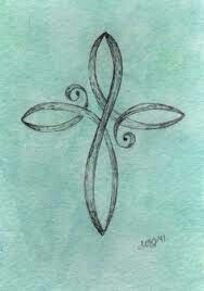 Delicate cross tattoo. Maybe in between my shoulder blades