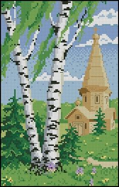 Birches and the Church