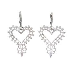 The beauty and allure of Spanish lands are woven through these intricate heart earrings. Romantic, feminine and full of charm. Hand made from 925 Sterling Silver. Heart Earrings, Sterling Silver Earrings, Hand Carved, Gypsy, Feminine, Romantic, Diamond, Accessories, Beauty