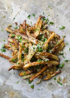 The first 5 days after the weekend are the hardest...thankfully these oven baked Garlic Parmesan French Fries will make every day feel like fry-day!