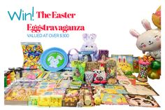 Enter to win this amazing bounty just in time for Easter! Put a smile on everyone's faces when you come home with this huge collection of chocolate, toys, crafts and much more. Visit www.celebrate4lesspromotions.com to enter!