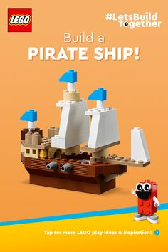 On the LEGO® page you can find inspirational LEGO DIY videos, LEGO apps and Lego Activities, Activities For Boys, Lego Projects, Projects For Kids, Lego App, Lego Pirate Ship, Lego Challenge, Lego Club, Lego For Kids
