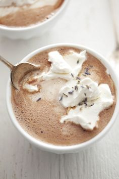 Lavender hot chocolate. beautiful