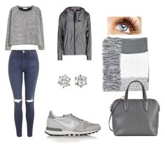 """""""grey day"""" by aurely-tms ❤ liked on Polyvore featuring NIKE, MANGO, Topshop, Juicy Couture and Valextra"""