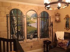 O casal teve ajuda de um amigo artista para fazer a pintura temática