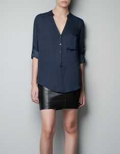 JACQUARD BLOUSE - Shirts - Woman - New collection - ZARA United Kingdom
