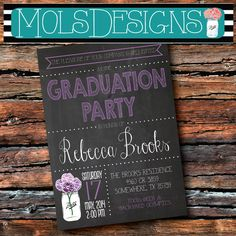 Any Color CHALKBOARD GRADUATION PARTY Mason Jar Couple Barbeque BbQ Cookout Honey Do Shower Bridal Baby Birthday Family Reunion Invitation