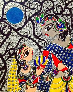 Ideas for fashion illustration print artists Budha Painting, Gond Painting, Krishna Painting, Krishna Art, Mandala Painting, Madhubani Paintings Peacock, Madhubani Art, Kalamkari Painting, Pichwai Paintings