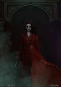 """"""" I'll return from darkness and will save your precious skin """" The vampire, Hasara, who protects Mernes. Dark Fantasy Art, Fantasy World, Dark Art, Fantasy Queen, Fantasy Characters, Female Characters, Character Inspiration, Character Art, Arte Obscura"""