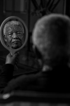 Nelson Mandela: Portrait by the photographer and filmmaker Adrian Steirn as part of his 21 Icons South Africa in 2011