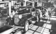 1932 Ford 3 window deluxe On The Assembly Line
