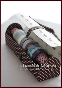 マスキングテープを収納する箱☆の画像:ichimière手づくりの時間