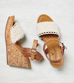 AEO Crocheted Wedge Sandal
