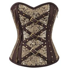 Steampunk Cross Strap and Chain Overbust Corset - by Medieval Collectibles Steampunk Corset, Steampunk Costume, Steampunk Fashion, Make Believe, Corsets Online, Cosplay Events, Steampunk Halloween, Waist Trainer Corset, Renaissance Clothing