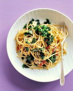 Whole-Wheat Pasta with Kale and Fontina Recipe - Made it! 6/10 The kale was a bit overpowering but a quick and easy dish.