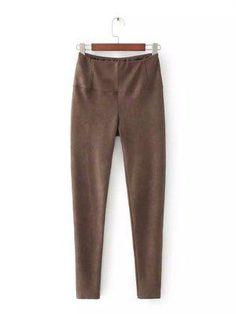 58ccb1d13595 Le Palais Vintage - Street Snap Pencil Velour Pants in 5 Colors  Chocolate