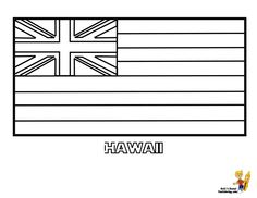 Usa flag coloring pages free large images coloring for Hawaii state flag coloring page