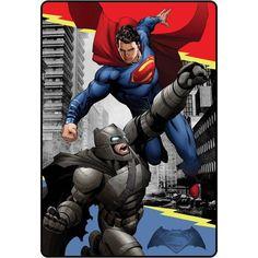 Batman vs Superman Twin Blanket Heroes Duel Twin Blanket Youth bedding #BATMANDCCOMICS