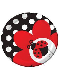 Lieveheersbeestje Bordjes - Dotted Ladybug plates Ladybug Party Supplies, Birthday Supplies, Ladybug 1st Birthdays, Party Plates, Dessert Plates, Cake Plates, Party Tableware, Dinner Plates, Baby Ladybug