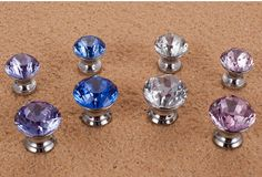 Crystal Knobs Silvertone / Dresser Drawer Knobs Pulls by LBFEEL, $5.70