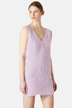 Topshop Double V-Neck Fringed Slipdress by TOPSHOP on @nordstrom_rack