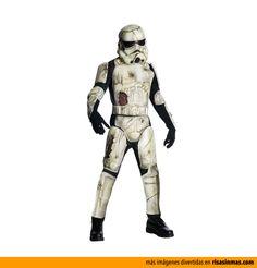 Disfraz de Stormtrooper Zombie.