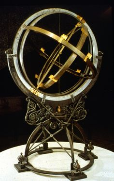 """Astrolabe - ancient astronomical """"computer"""" for solving problems relating to time and the position of the Sun and stars in the sky. Constellations, Celestial Sphere, Vintage Globe, World Globes, Map Globe, Steampunk Design, Sun And Stars, Instruments, Star Sky"""