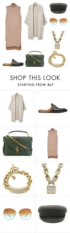 """Casual + милитари"" by trend-brand ❤ liked on Polyvore featuring Violeta by Mango, Gucci, Yves Saint Laurent, Relaxfeel, Michael Kors, Isabel Marant and Étoile Isabel Marant"