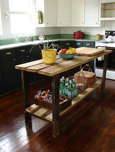 love this kitchen - floors, counters, etc.