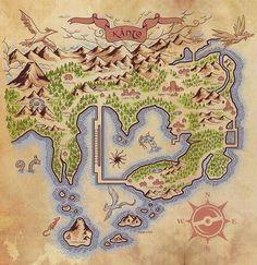 Kanto region town map skyrim style