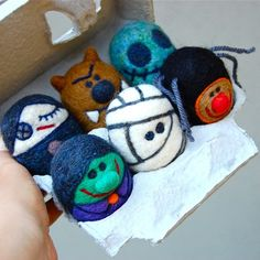 Petite Planet: Spooky, Wooly Green Halloween Toys from Asher Jasper