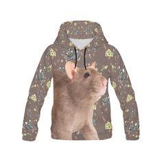 #xmas #Christmas #TeeAmazing - #e-joyer Rats All Over Print Hoodie for Men - AdoreWe.com