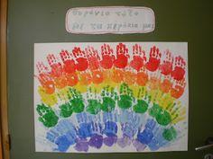 5ο Νηπιαγωγείο Τρίπολης: Χρώματα-Στο ουράνιο τόξο Color Shapes, I School, Diy And Crafts, Blog, Autumn, Dinosaurs, Fall