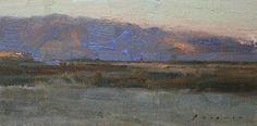 "Early Morning Borrego Springs by Simon Addyman Oil ~ 8"" x 16"""