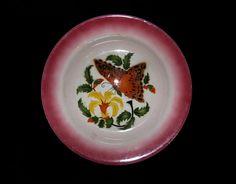 Moderna uma outra nem tanto: Prato de cozinha art déco com borboleta - Sacavém